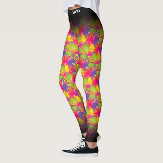 Abstract MultiColor Pattern Leggings