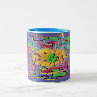 Abstract multicolored mug