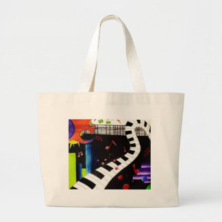 Abstract Music 2013 Large Tote Bag
