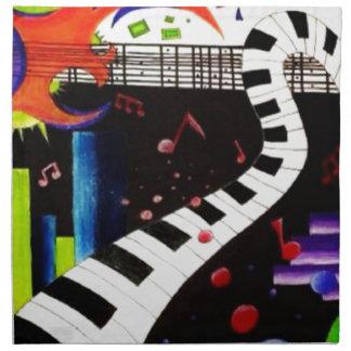 Abstract Music 2013 Napkin