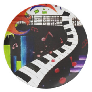 Abstract Music 2013 Plate