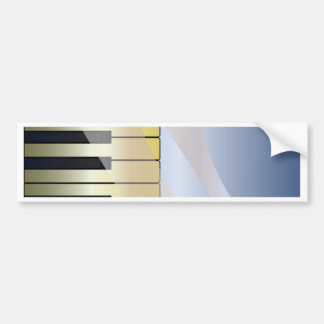 Abstract Music Background Bumper Sticker
