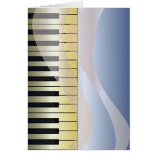 Abstract Music Background Card