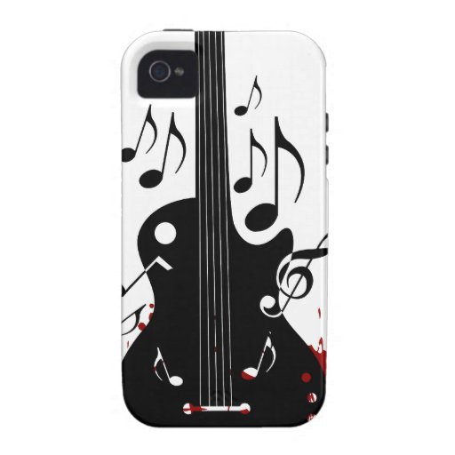 Abstract music background iPhone 4 case