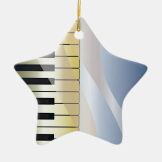 Abstract Music Background Ceramic Ornament