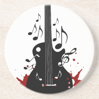 Abstract music background drink coaster