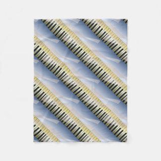 Abstract Music Background Fleece Blanket
