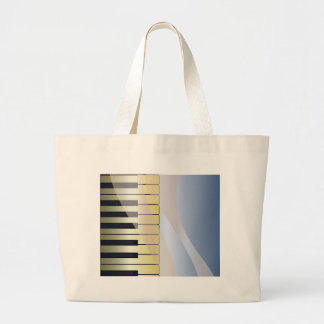 Abstract Music Background Large Tote Bag