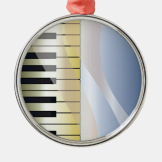 Abstract Music Background Metal Ornament