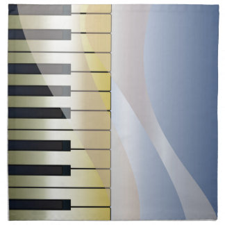 Abstract Music Background Napkin