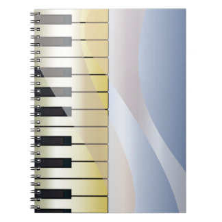 Abstract Music Background Notebook