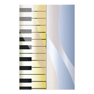Abstract Music Background Stationery