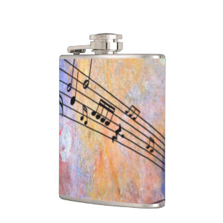 abstract music flasks