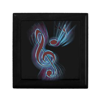 Abstract music. gift box