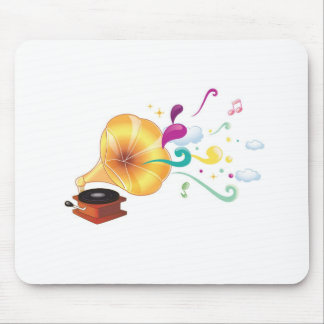 Abstract music graphic mouse pad