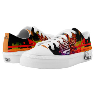 Abstract Music Life Low-Top Sneakers