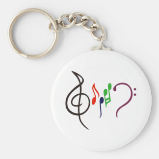 Abstract Music Logo Keychain