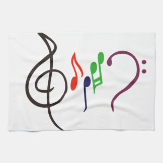 Abstract Music Logo Kitchen Towel