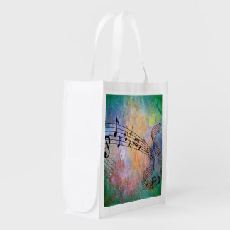 abstract music market tote