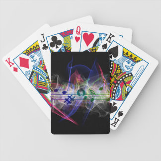 Abstract Music Note Poker Deck