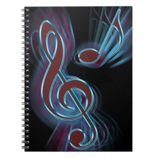 Abstract music. notebook
