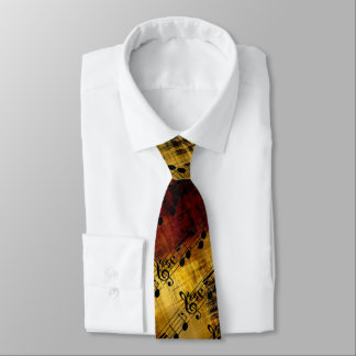 Abstract Music Notes Tie