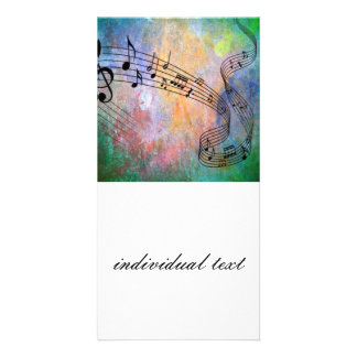 abstract music photo card template