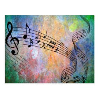 abstract music postcard