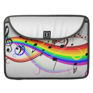 Abstract musical note's and rainbow colors. sleeves for MacBook pro