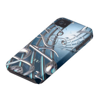 Abstract Musical Notes Case-Mate iPhone 4 Cases