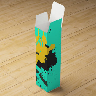 Abstract Musical Notes Wine Gift Box