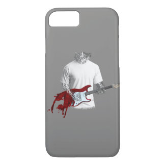 Abstract Musician Playing Melting Electric Guitar iPhone 7 Case