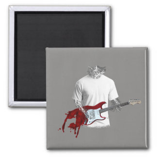 Abstract Musician Playing Melting Electric Guitar Magnet