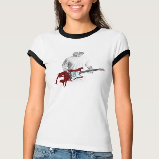 Abstract Musician Playing Melting Electric Guitar T-Shirt