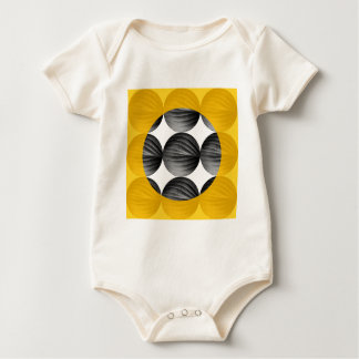 Abstract Mustard Yellow and Grey Baby Bodysuit