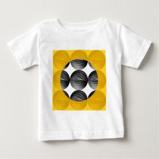 Abstract Mustard Yellow and Grey Baby T-Shirt