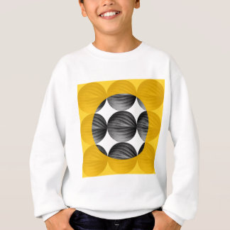 Abstract Mustard Yellow and Grey Sweatshirt