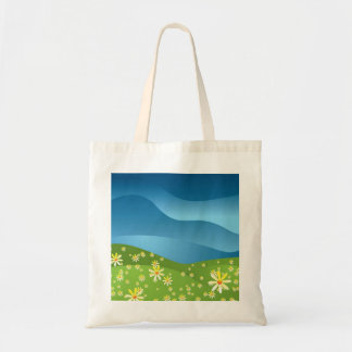 Abstract nature canvas bag