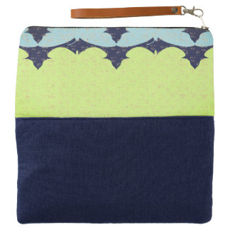 Abstract-Nature-Butterflies-Lime-Blue_Multi-Colors Clutch
