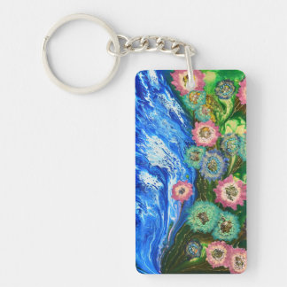 Abstract nature keychain