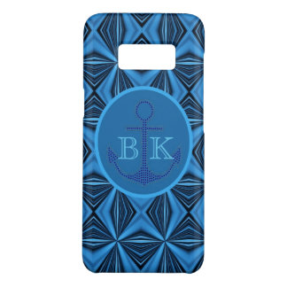 Abstract nautical preppy ocean navy blue anchor Case-Mate samsung galaxy s8 case