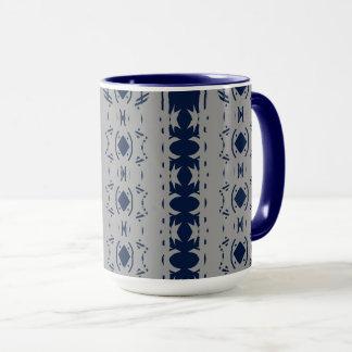 Abstract Navy and Grey Design Mug