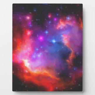 Abstract Nebula of Magellanic Cloud Plaque
