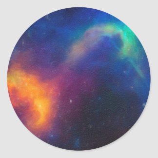 Abstract Nebulla with Galactic Cosmic Cloud 24 Classic Round Sticker