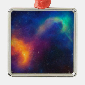 Abstract Nebulla with Galactic Cosmic Cloud 24 Metal Ornament