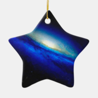 Abstract Nebulla with Galactic Cosmic Cloud 26 Ceramic Ornament