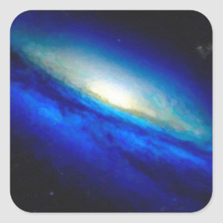 Abstract Nebulla with Galactic Cosmic Cloud 26 Square Sticker