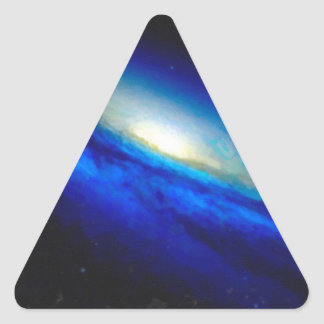 Abstract Nebulla with Galactic Cosmic Cloud 26 Triangle Sticker