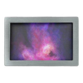 Abstract Nebulla with Galactic Cosmic Cloud 27 Rectangular Belt Buckles