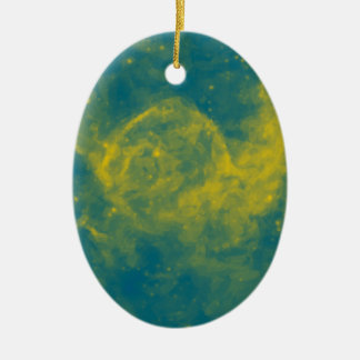 Abstract Nebulla with Galactic Cosmic Cloud 29a.jp Ceramic Ornament